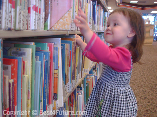 Library is the paradise for children