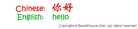 Mandarin Chinese for Hello