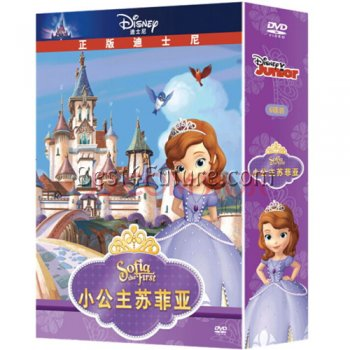 Bilingual DVD: Sofia the First TV series (Chinese/English, 6 DVD