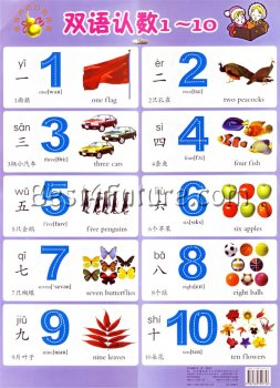 Bilingual Poster - Numbers (Chinese/English)