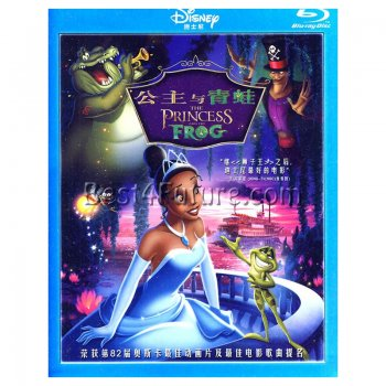 Bilingual Blu-Ray Movie: The Princess and the Frog (Chinese/Eng